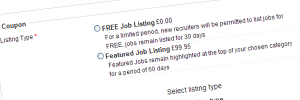 Job Listings Features