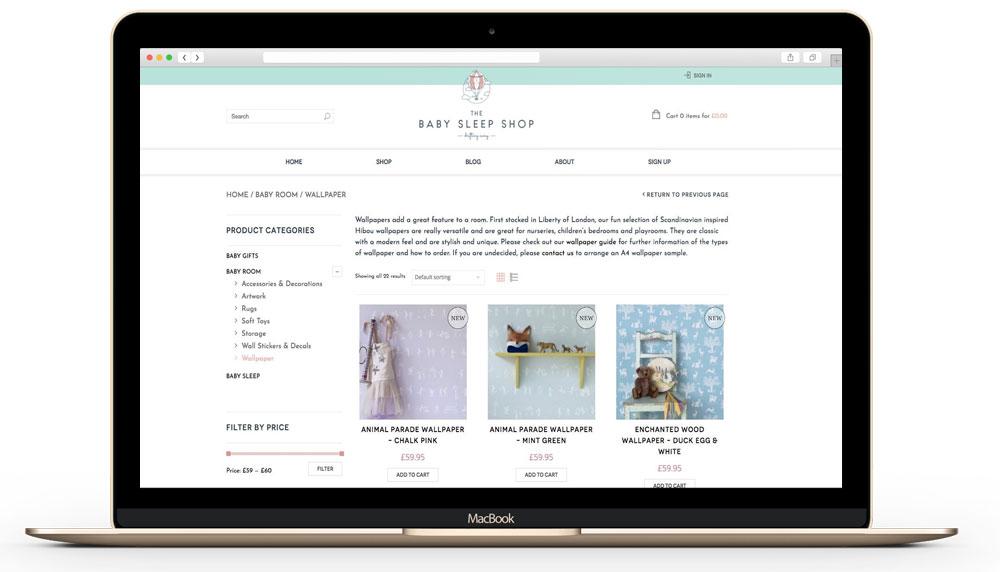 babysleep - Enterprise Ecommerce Website