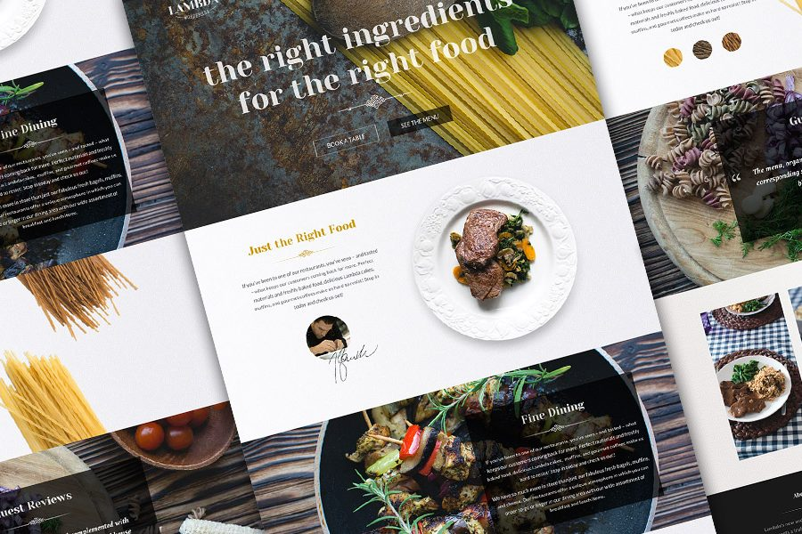 rest theme 900x600 - Restaurant & Cafe Website Design